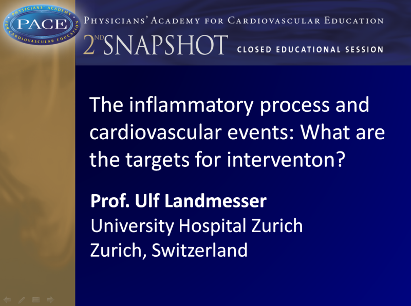 SNAPSHOT 2013 - The inflammatory process and CV events: What