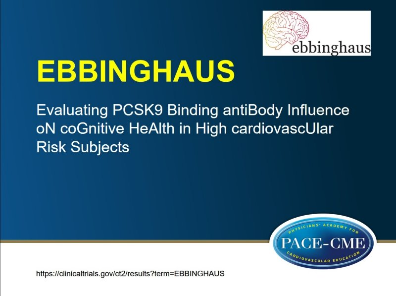 PCSK9 inhibitor non-inferior to placebo for effect on cognitive function