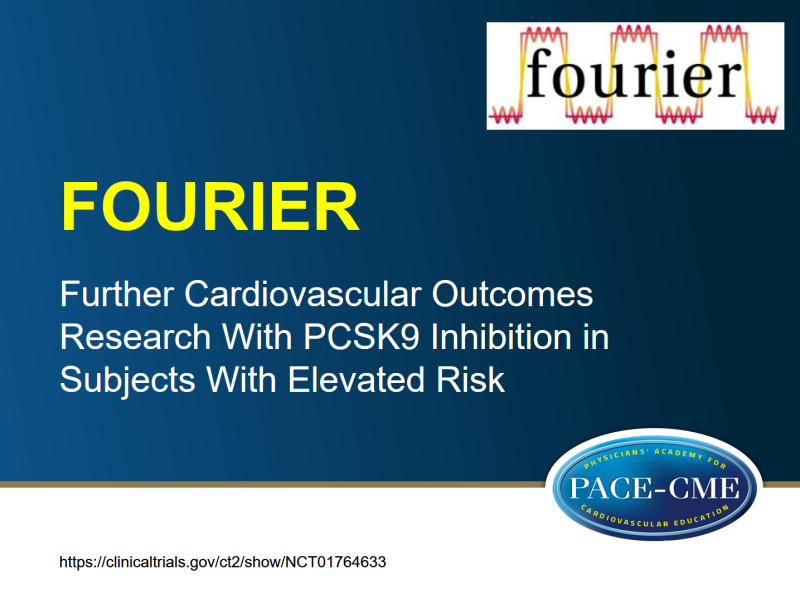 PCSK9 inhibitor significantly reduced CV risk in ASCVD patients in FOURIER outcomes study