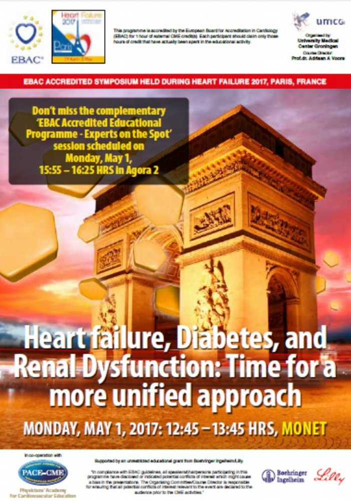 Agenda: Heart failure, Diabetes, and Renal Dysfunction:  Time for a more unified approach