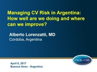 cardiovascular risk master class - Slides as educational service to meeting participants
