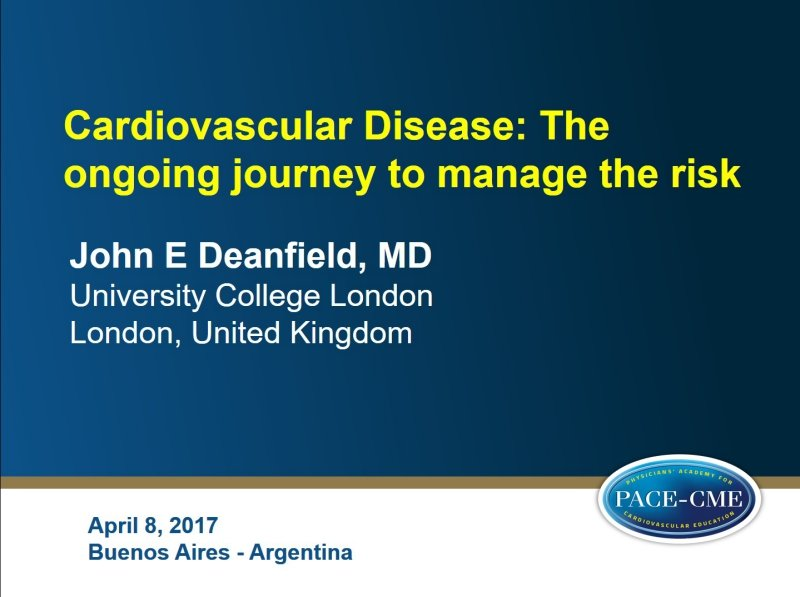 Slides: Cardiovascular Disease: The ongoing journey to manage the risk