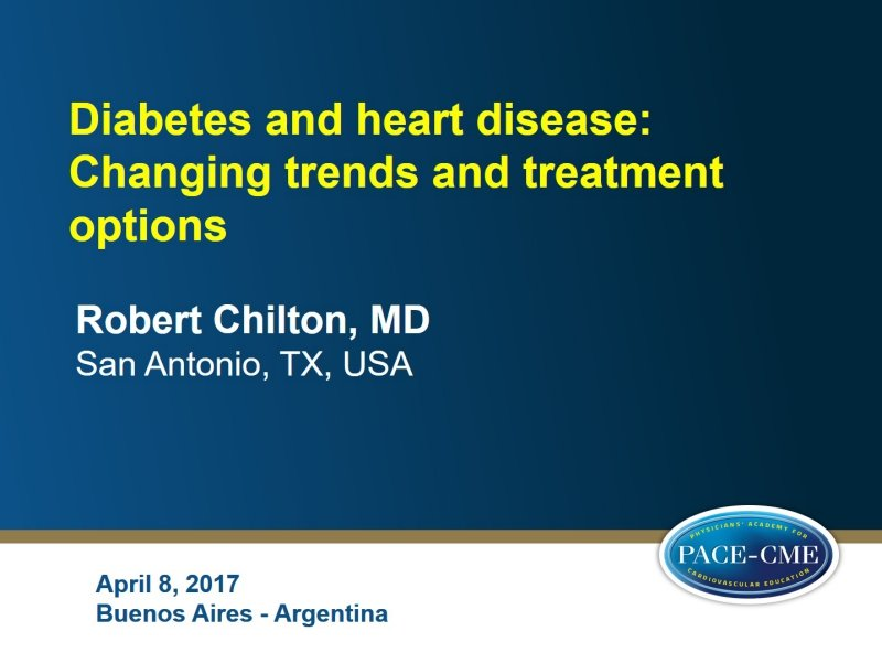 Slides: Diabetes and heart disease: Changing trends and treatment options