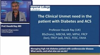 Lecture by Prof Kausik Ray held at symposium on BET Inhibition: Managing high risk diabetes patient with cardiovascular disease: What works, and what else can we do?
