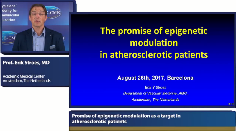 Slides: Promise of epigenetic modulation as a target in atherosclerotic patients