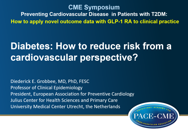 Slides: Diabetes: How to reduce risk from a cardiovascular perspective?