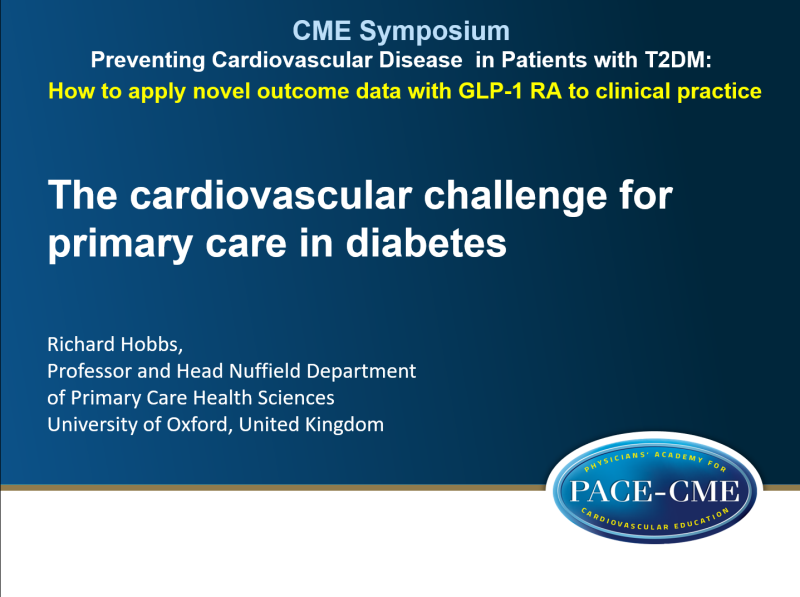Slides: The cardiovascular challenge for primary care in diabetes