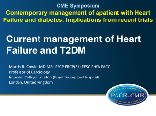 This lecture by prof Martin Cowie was part of a CME accredited symposium: Contemporary management of a patient with Heart Failure and diabetes: Implications from recent trials?' held at ESC Heart Failure 2018 in Vienna