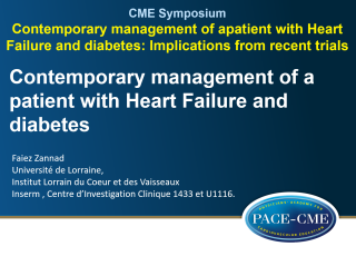 This lecture by prof Faiez Zannad was part of a CME accredited symposium: Contemporary management of a patient with Heart Failure and diabetes: Implications from recent trials?' held at ESC Heart Failure 2018 in Vienna.