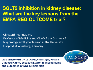This lecture by prof. Christoph Wanner was part of a CME accredited symposium: Diabetic Kidney Disease: Exploring mechanisms and outcomes of SGLT2 inhibition held at ERA-EDTA 2018 in Copenhagen