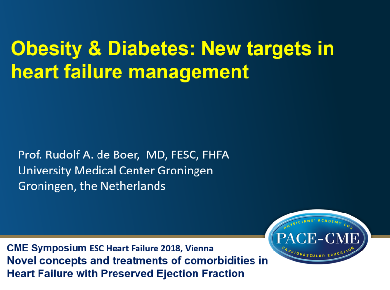Slides: Diabetes & Obesity in HFpEF: New targets in heart failure management
