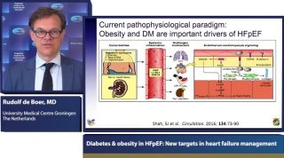 Prof. De Boer summarises the interplay between obesity, diabetes and HFpEF, and how the first two conditions may be managed, to minimize their impact on the course of HFpEF.