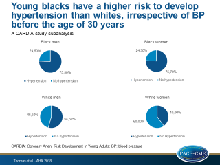 Cumulative Incidence of Hypertension by 55 Years of Age in Blacks and Whites: The CARDIA Study