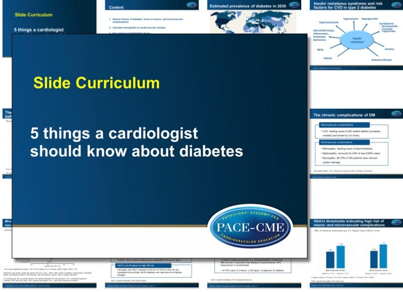 Slide Curriculum: Diabetes and cardiology
