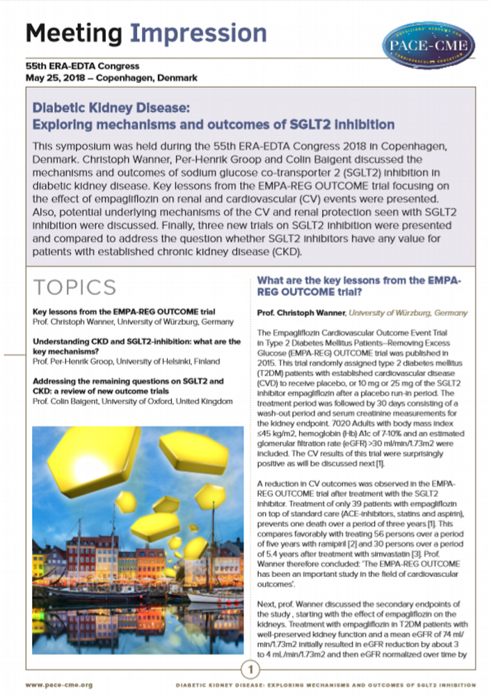 Meeting Impression | Mechanisms and outcomes of SGLT2 inhibition in T2DM