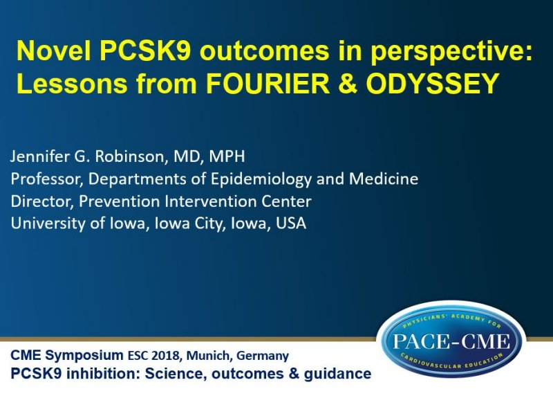 Slides: Novel PCSK9 outcomes in perspective: Lessons from FOURIER & ODYSSEY