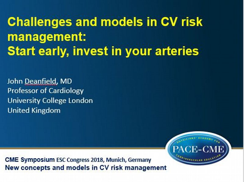 Slides: Challenges and models in CV risk management: Start early, invest in your arteries