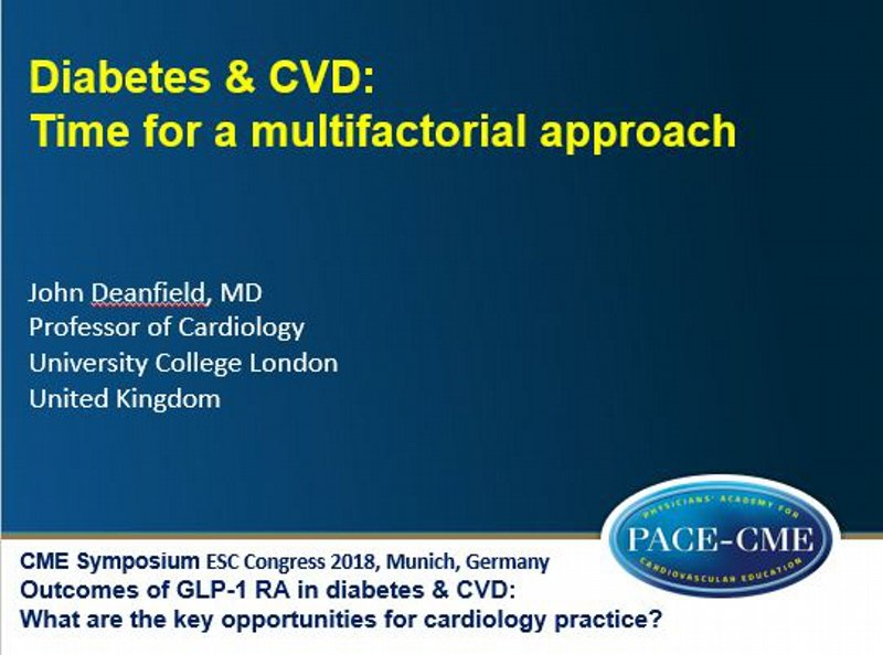 Slides: Diabetes & CVD: Time for a multifactorial approach