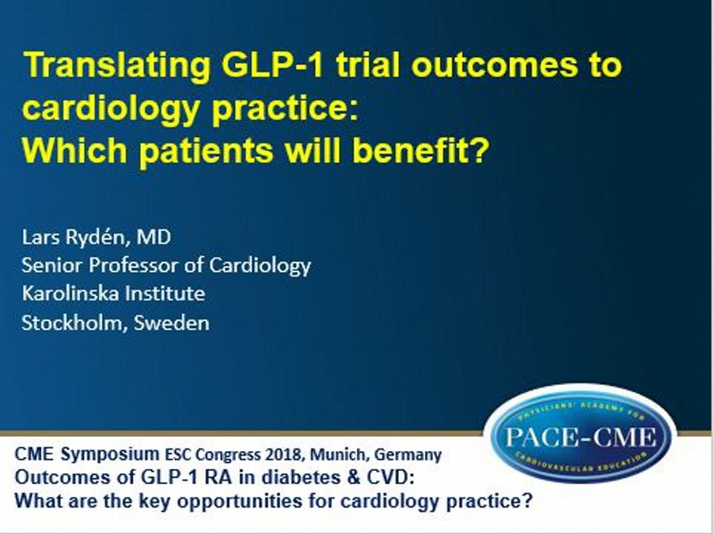 Slides: Translating GLP-1 trial outcomes to cardiology practice: Which patients will benefit?