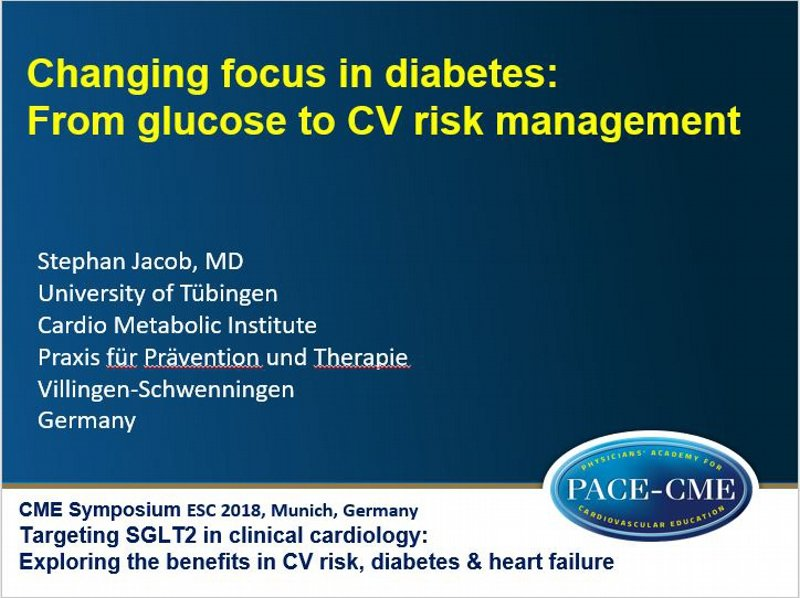 Slides: Changing focus in diabetes: From glucose to CV risk management