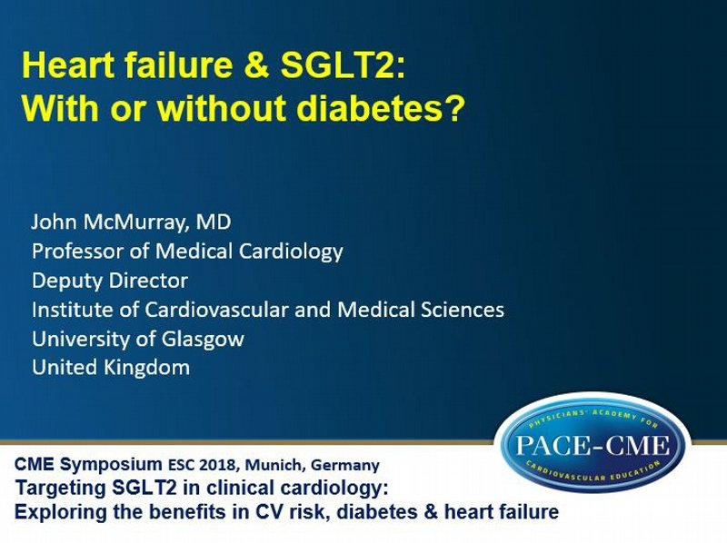 Slides: Heart failure & SGLT2: With or without diabetes?