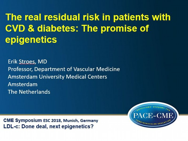 Slides: The real residual risk in patients with CVD & diabetes: The promise of epigenetics
