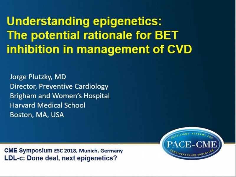 Slides: Understanding epigenetics: The potential rationale for BET inhibition in management of CVD