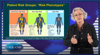 Prof. Jennifer Robinson illustrates the importance of baseline LDL-c levels in CV risk reduction with PCSK9 inhibitors and explains which patients should get this treatment.