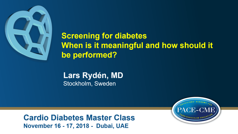 Slides: Screening for diabetes: When is it meaningful and how should it be performed?