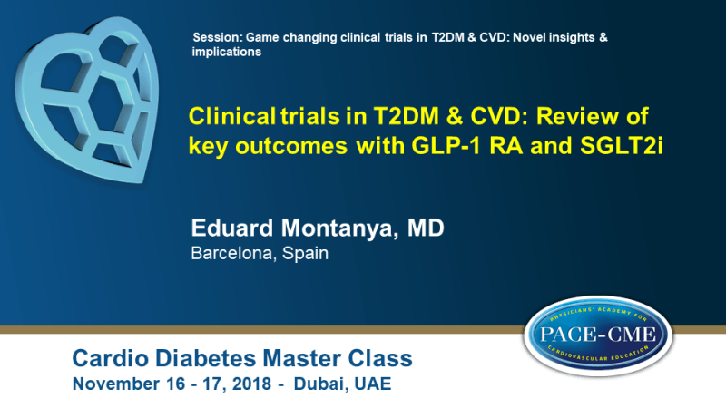 Slides: Clinical trials in T2DM & CVD: Review of key outcomes with GLP-1 RA and SGLT2i