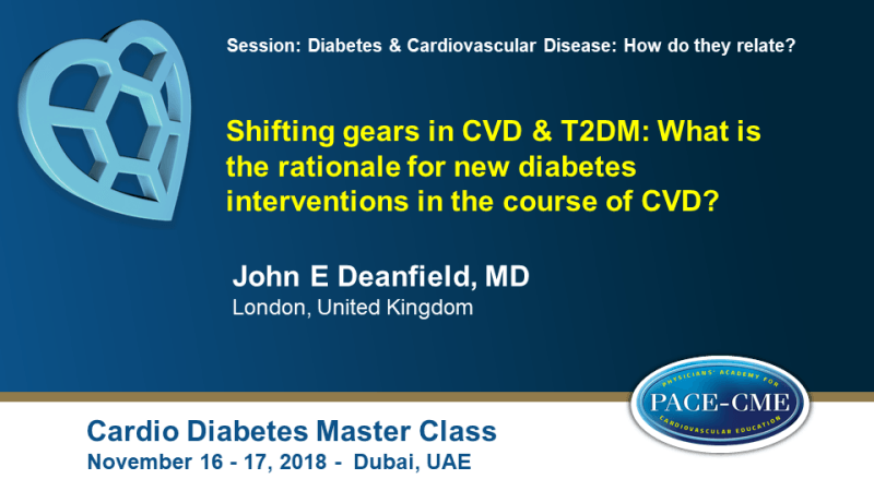 Slides: Shifting gears in CVD & T2DM: What is the rationale for new diabetes interventions in the course of CVD?