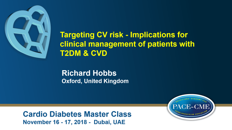 Slides: Targeting CV risk - Implications for clinical management of patients with T2DM & CVD
