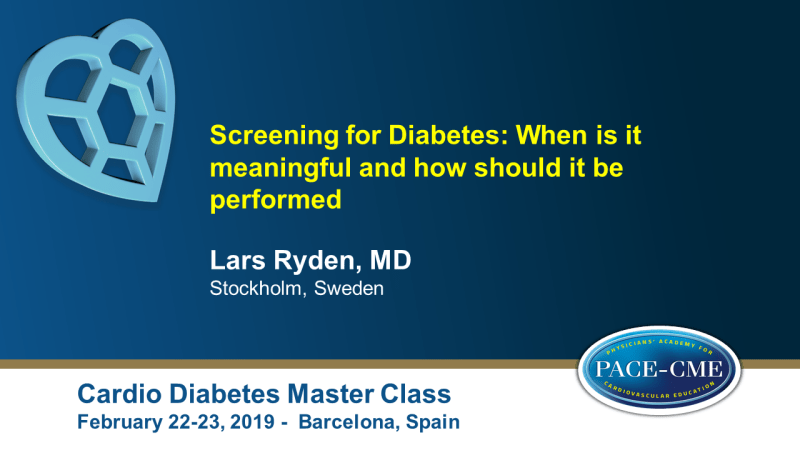 Slides: Screening for Diabetes: When is it meaningful and how should it be performed (2)