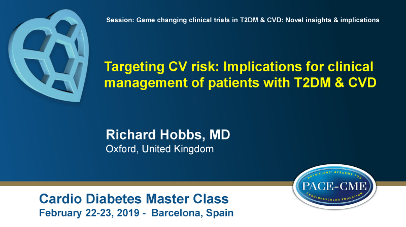 Slides: Targeting CV risk: Implications for clinical management of patients with T2DM & CVD (1)