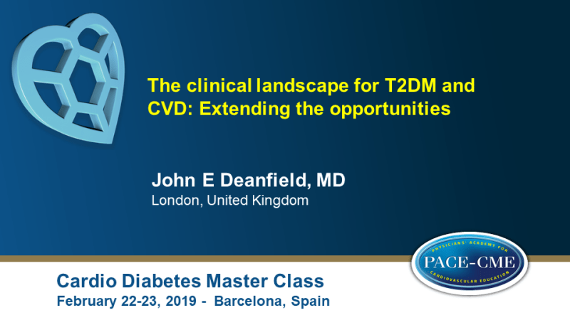 Slides: The clinical landscape for T2DM and CVD: Extending the opportunities