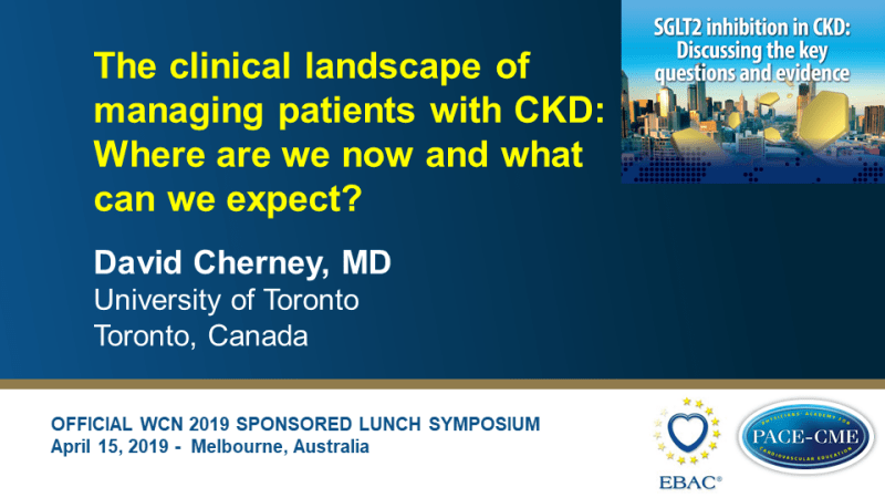 Slides: The clinical landscape of managing patients with CKD: Where are we now and what can we expect?