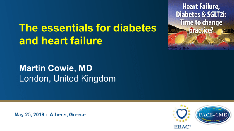Slides: The essentials for diabetes and heart failure