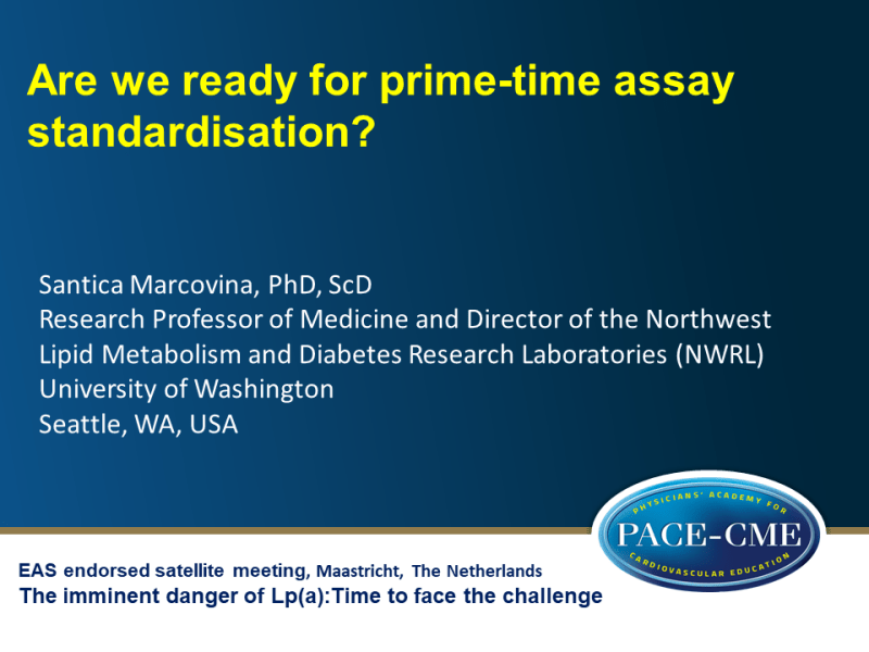 Slides | Are we ready for prime-time assay standardisation?