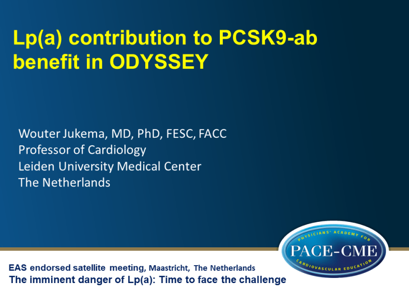 Slides | Lp(a) contribution to PCSK9-ab benefit in ODYSSEY