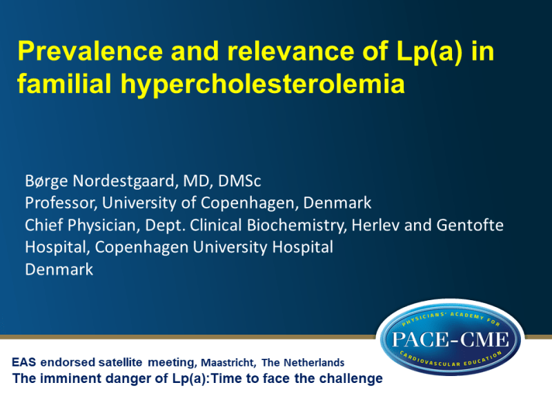 Slides | Prevalence and relevance of Lp(a) in familial hypercholesterolemia