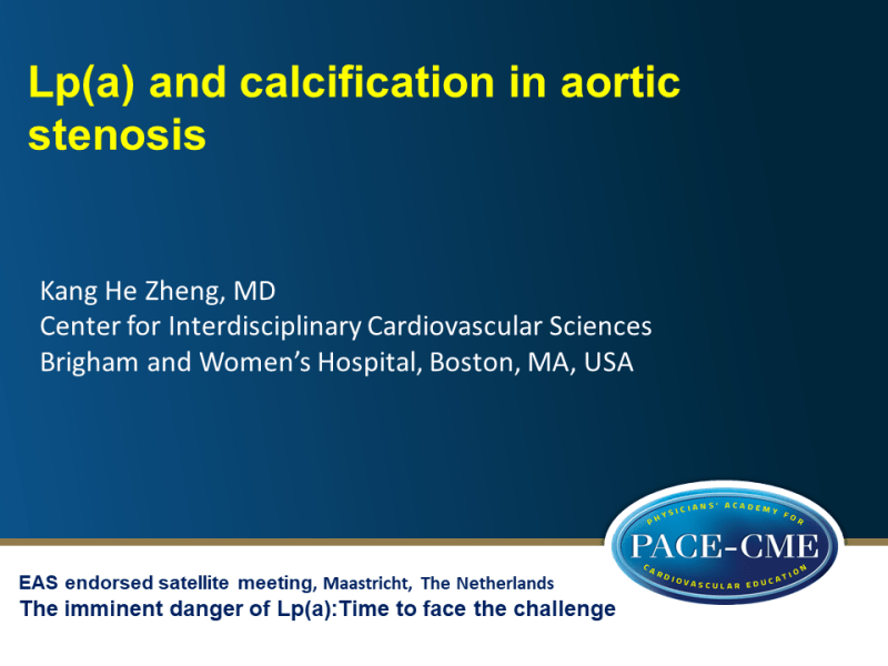 Slides | Lp(a) and calcification in aortic stenosis