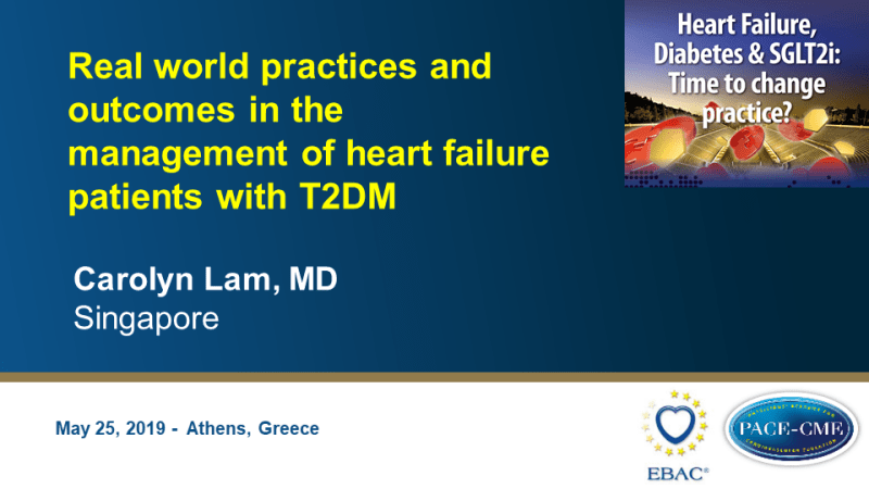 Slides: Real world practices and outcomes in the management of heart failure patients with T2DM