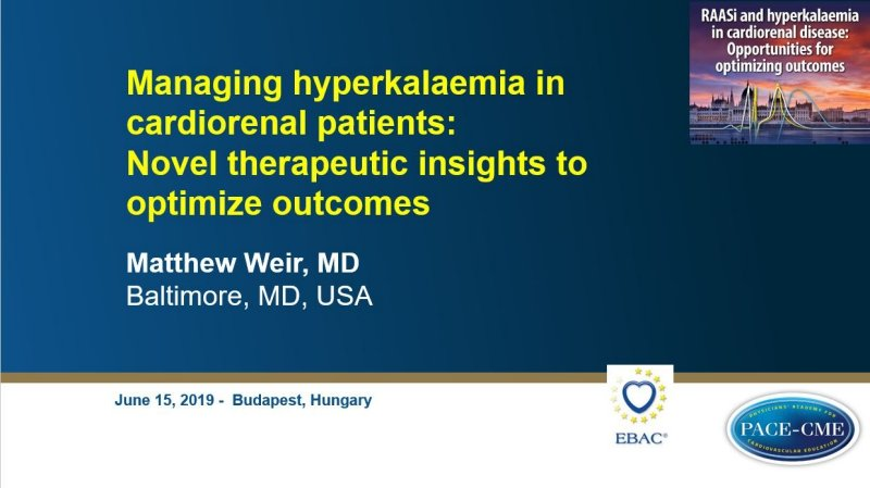 Slides: Managing hyperkalaemia in cardiorenal patients: Novel therapeutic insights to optimize outcomes