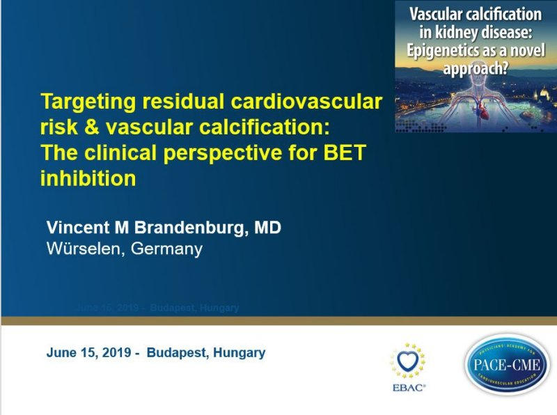 Slides: Targeting residual cardiovascular risk & vascular calcification: The clinical perspective for BET inhibition