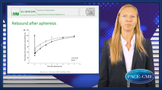 Elisa Waldmann shows prospective data on reduced CV event rates after regular Lp(a) apheresis in patients with high baseline Lp(a) levels and emphasizes the need of randomized controlled data.