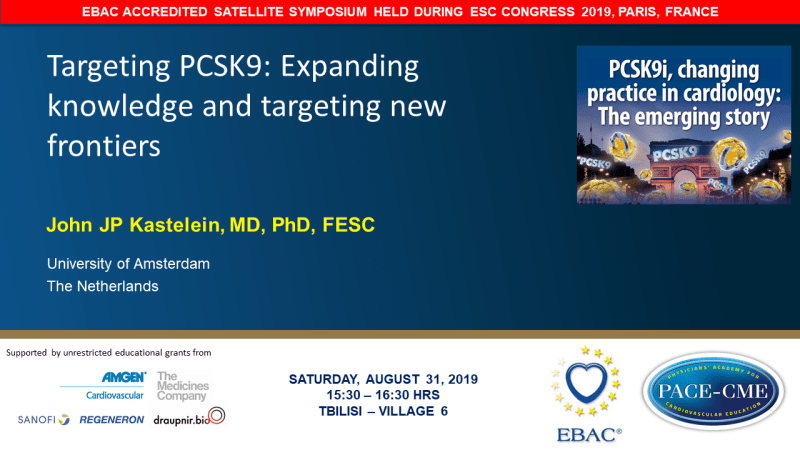 Slides: Targeting PCSK9: Expanding knowledge and targeting new frontiers