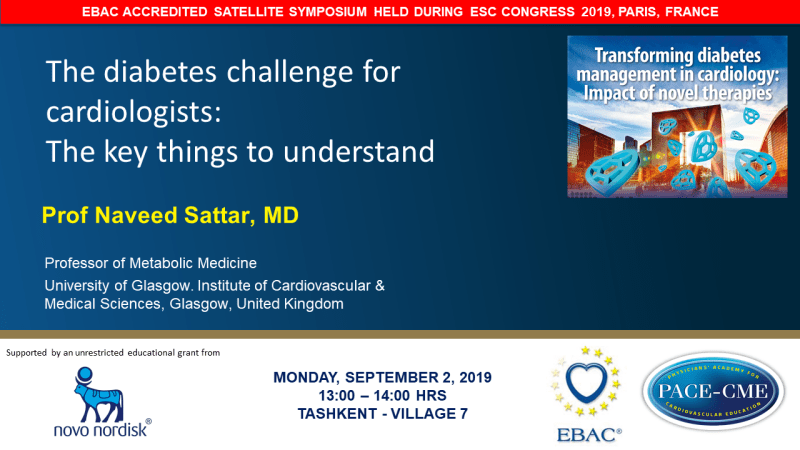 Slides: The diabetes challenge for cardiologists: The key things to understand