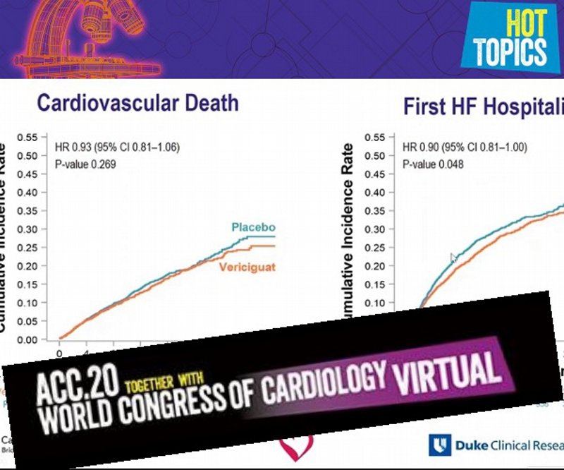 sGC stimulator reduces CV death and HF hospitalization in HFrEF patients with worsening HF