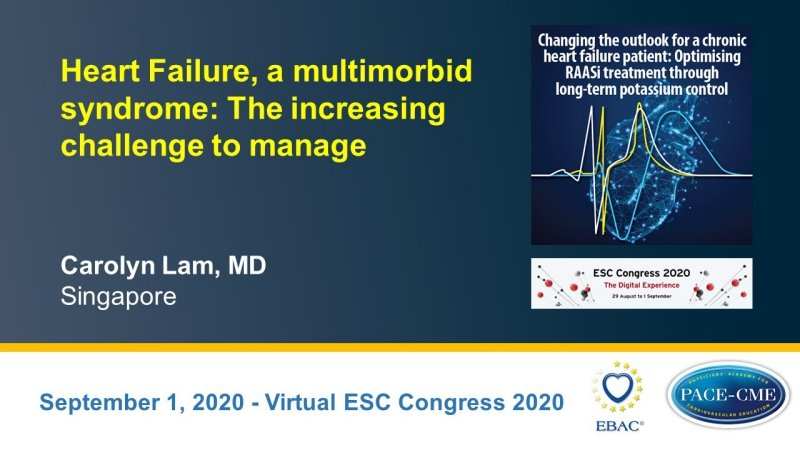 Slides: Heart Failure, a multimorbid syndrome: The increasing challenge to manage