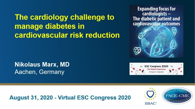 Slides: The cardiology challenge to manage diabetes in cardiovascular risk reduction